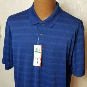 GrandSlam Mens Golf Rugby Polo Shirt Blue Large